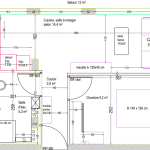 nouvel agencement pout obtenir une chambre de 9 m² et un petit espace salon cuisine