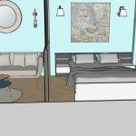 décoration coupe chambre salon